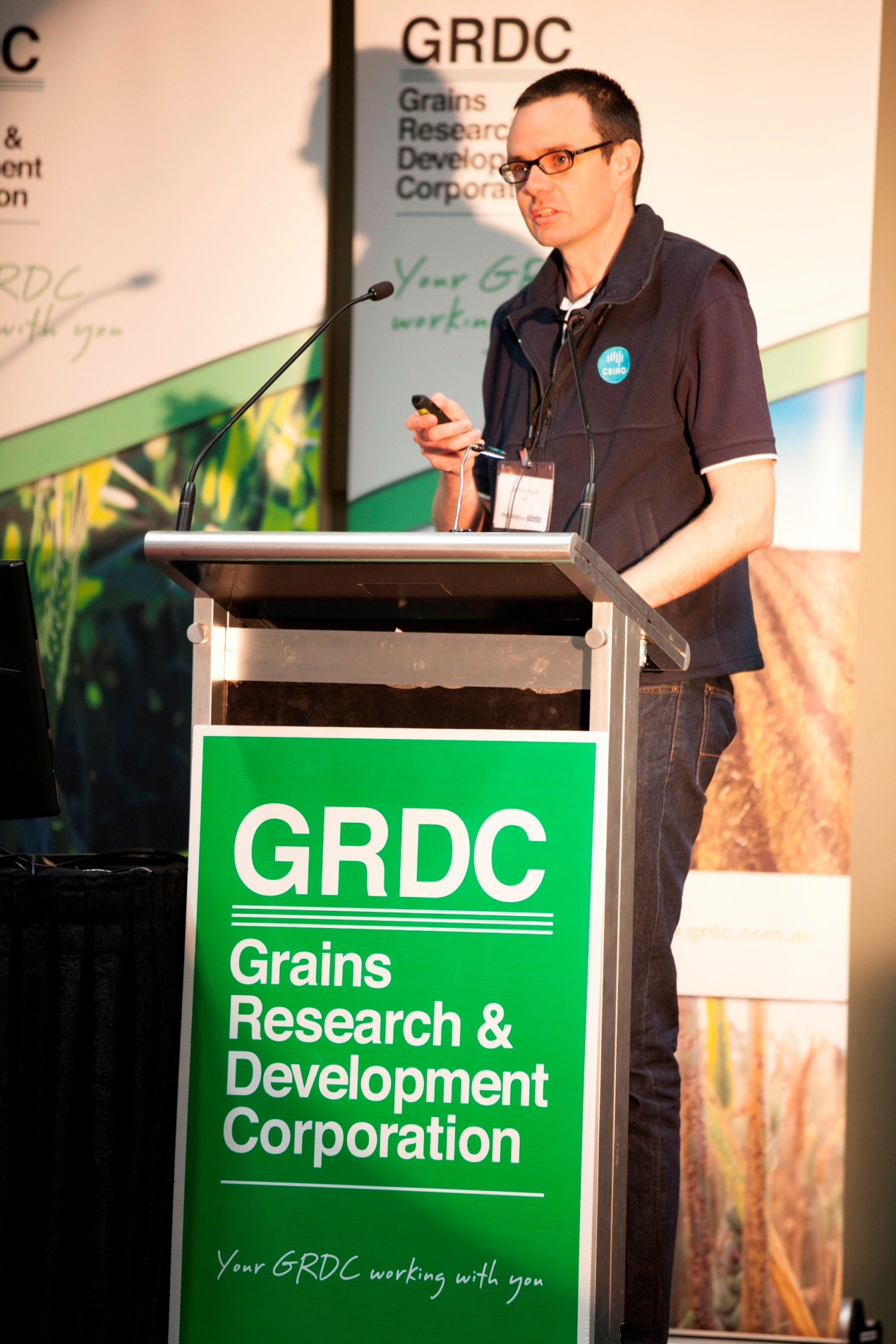 CSIRO's James Hunt, speaking at a GRDC grains research Update