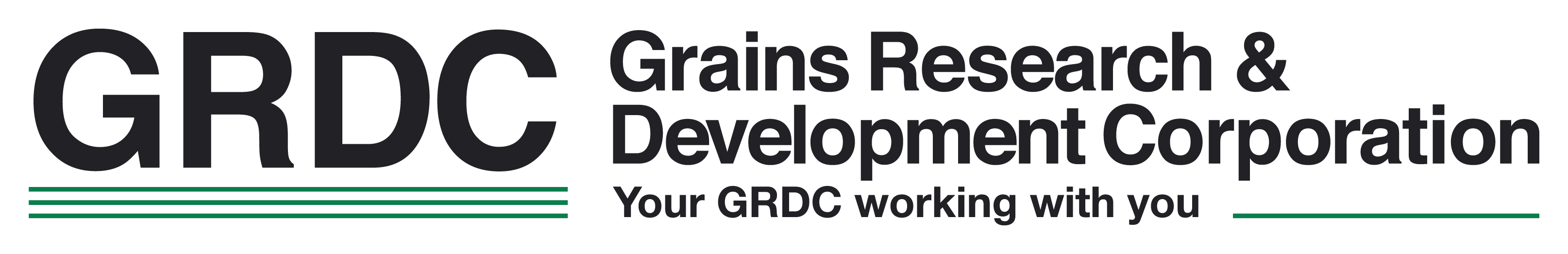 GRDC logo - inline design with tagline