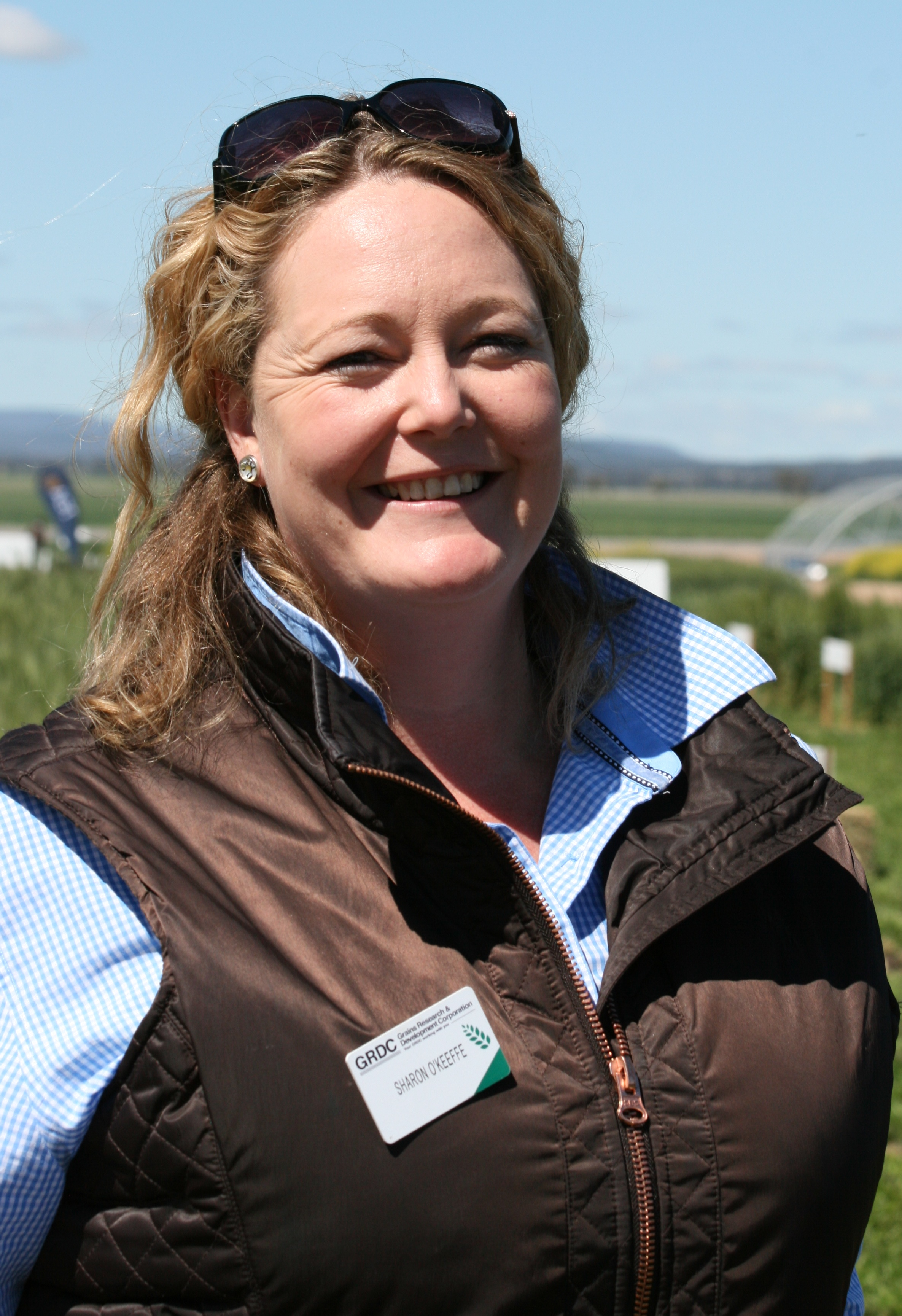 GRDC Manager Regional Grower Services, North Sharon O'Keeffe in a paddock.