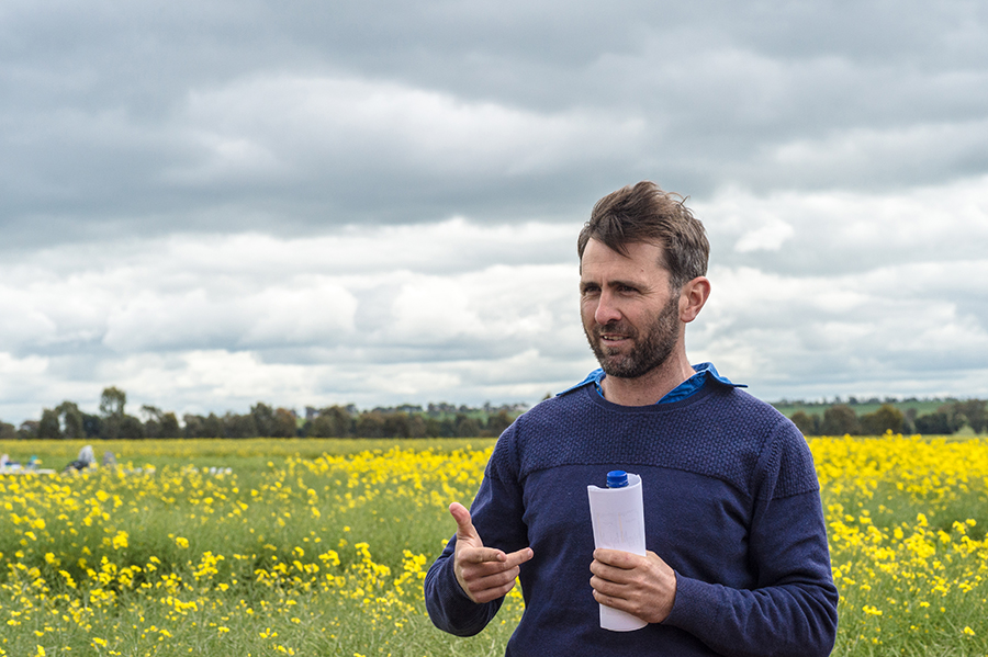 NSW DPI research agronomist Rohan Brill