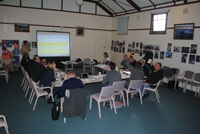 Albany port zone RCS network representatives and facilitators at their recent meeting in Lake Grace