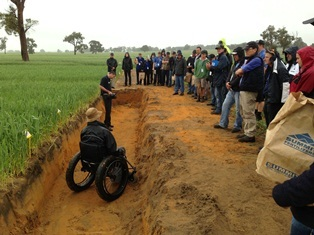 DAFWA's Craig Scanlan explains the benefits of lime incorporation with cultivation during 2013 field days