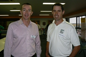 Peter Newman, AHRI communications leader, WA and Will Martel, GRDC