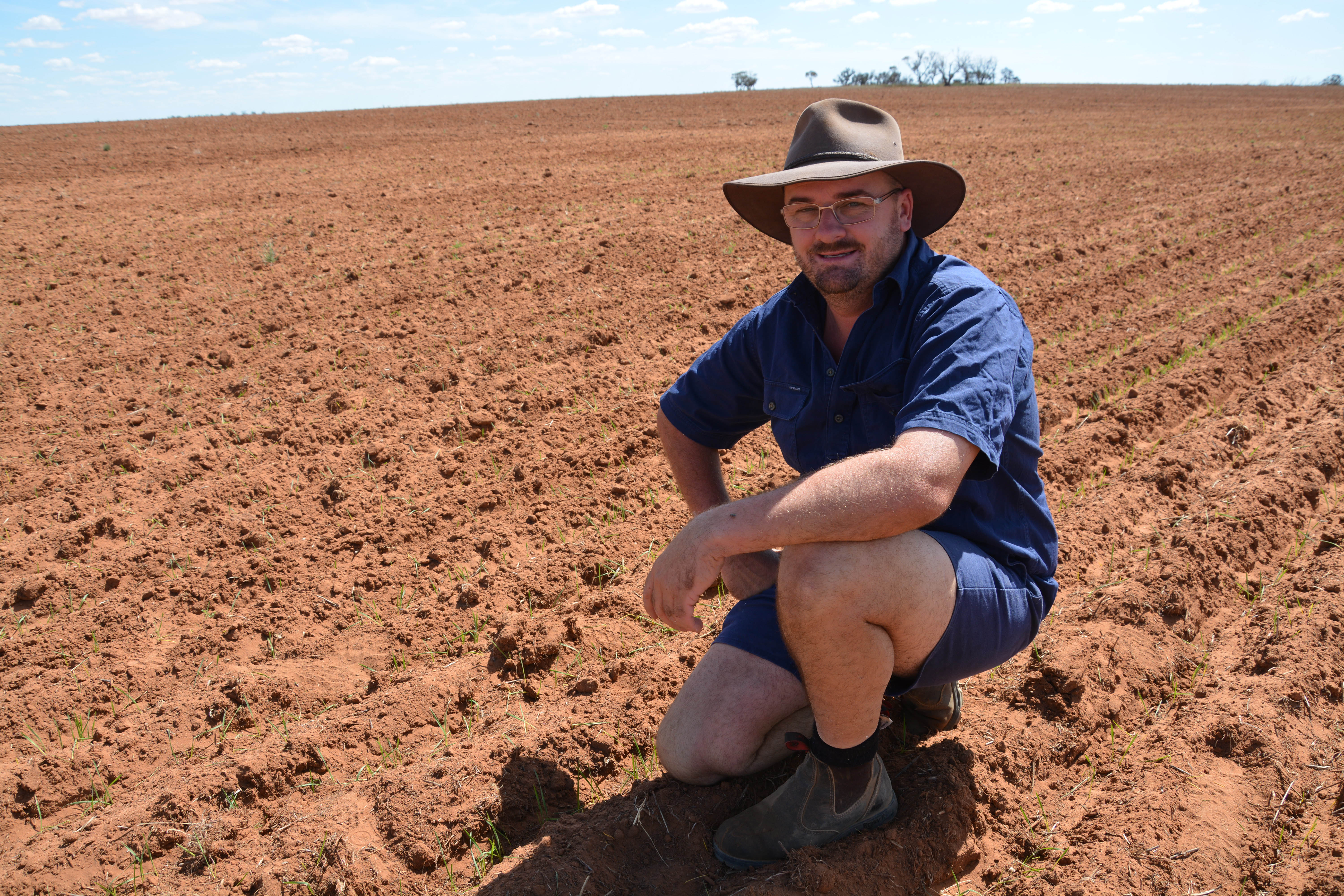 Matt Curtis at his Wargan property in the north west of Victoria