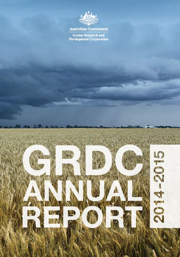GRDC Annual report 2014 15 cover