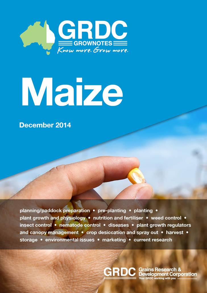 Maize GrowNotes cover page