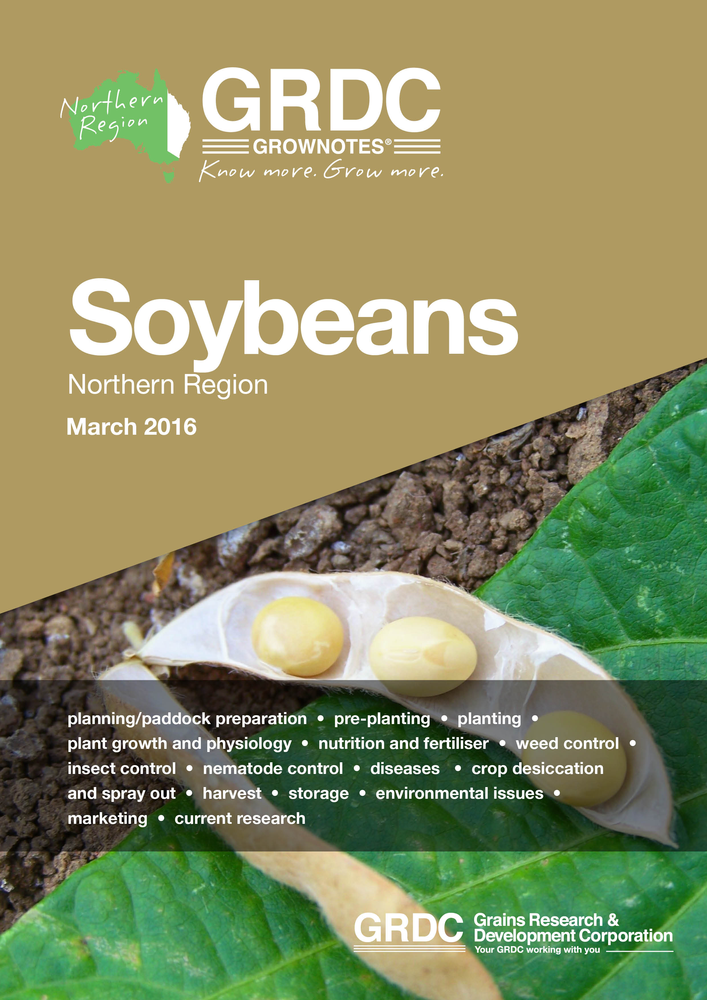 Soybeans Grownotes magazine cover