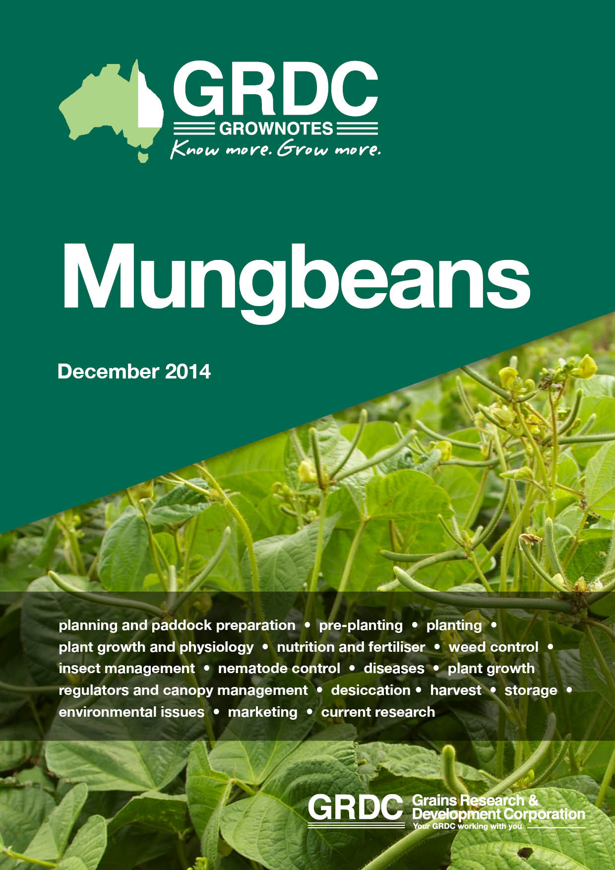 GrowNotes Mungbeans cover page