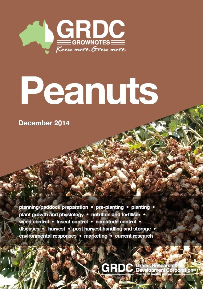 GRDC GrowNotes Peanuts cover
