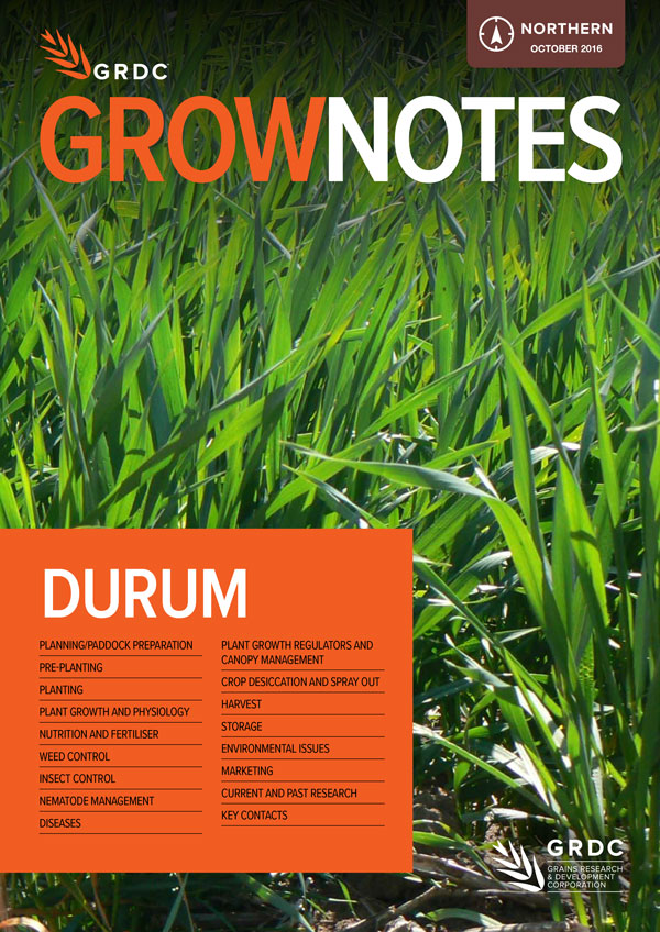 GrowNotes Durum Northern Region cover