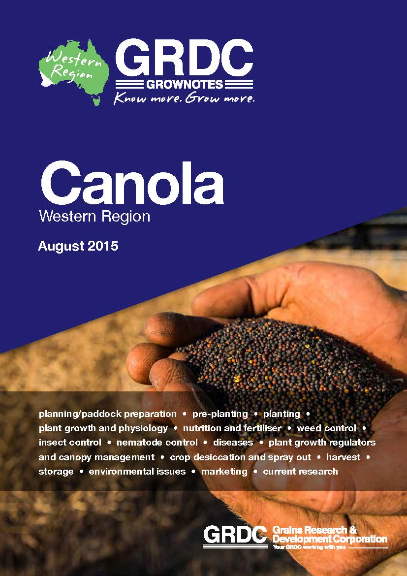 Western Region Canola Grow Notes Cover