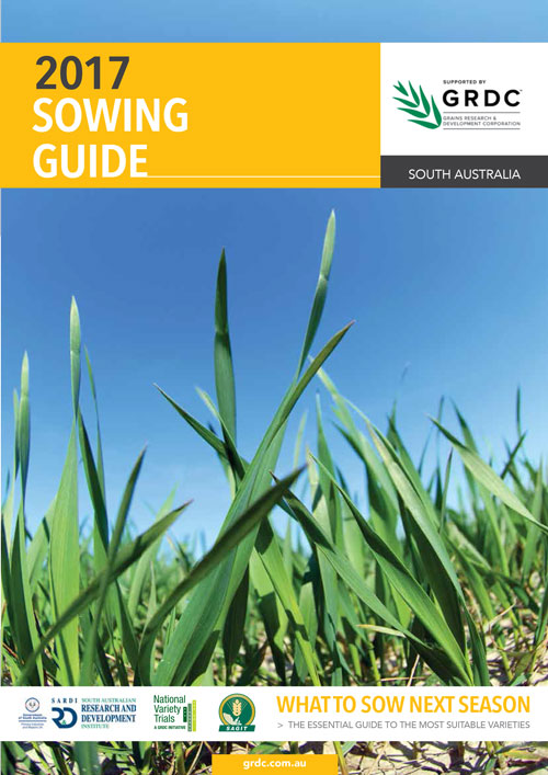 Cover image for South Australian Sowing Guide 2017