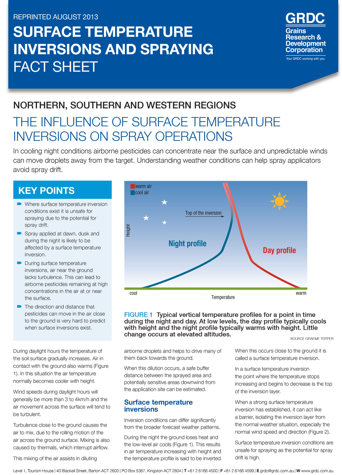 Image of the Surface temperature inversions and spraying surface temperature inversions and spraying Fact Sheet
