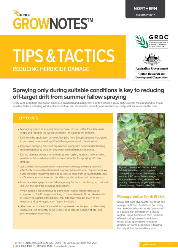 Tips and Tactics Reducing Herbicide Damage Cover image
