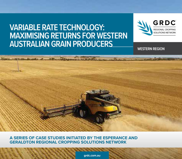 Variable Rate Technology Maximising Returns for Western Australian Grain Producers cover image