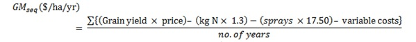 Figure 2: Equation used to calculate the gross margin.