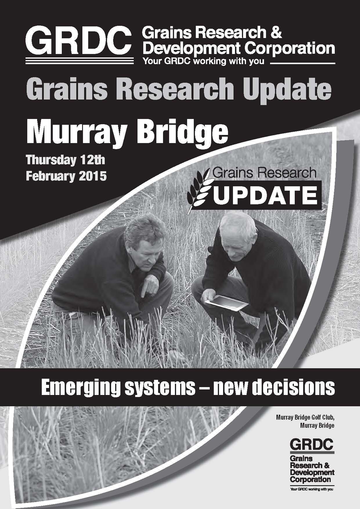 GRDC Grains Research Update Murray Bridge 2015 cover