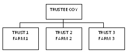 Figure 2. Example of structure that uses multiple trusts.